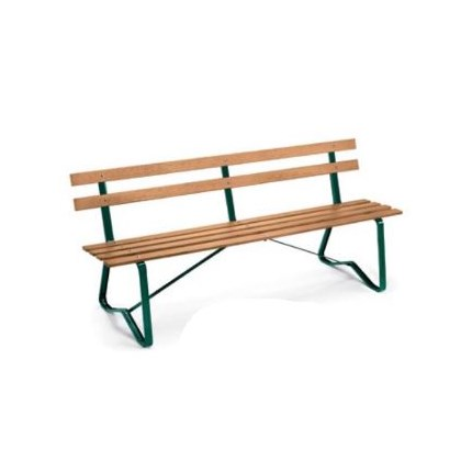 Surprising 6Ft Park Bench With Natural Stained Boards Hunter Green Pabps2019 Chair Design Images Pabps2019Com